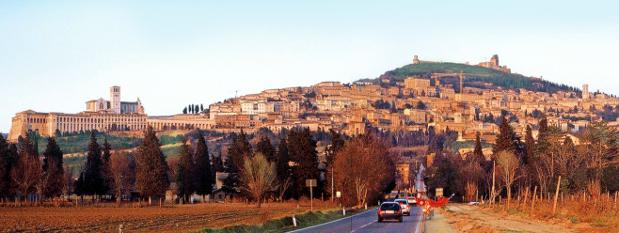 Assisi, ein wichtiger Pilgerort in Umbrien. - (c) Italweg / Promper