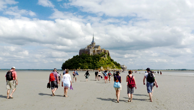 Travers�e de la Baie du Mont-Saint-Michel.  K. Riley CRT Normandie